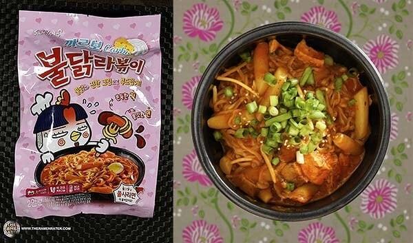 第三位:三養卡邦尼辣雞麵炒年糕 (南韓)